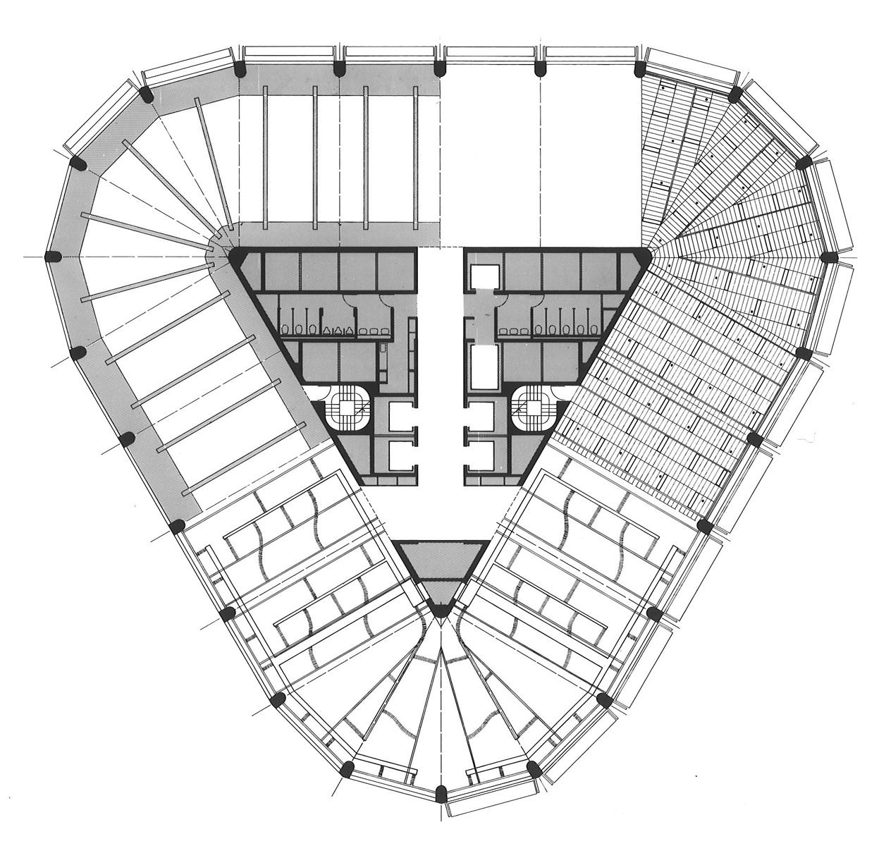 Harry seidler associates riverside centre for Floor framing plan