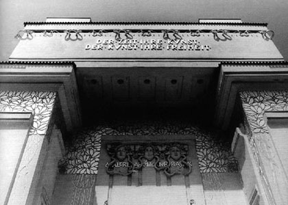 """DER ZEIT IHRE KUNST… DER KUNST IHRE FREIHEIT"" (To Each Time its Art… to Art its Freedom)  a 100-year-old inscription above the entrance to the Sezession Building in Vienna"