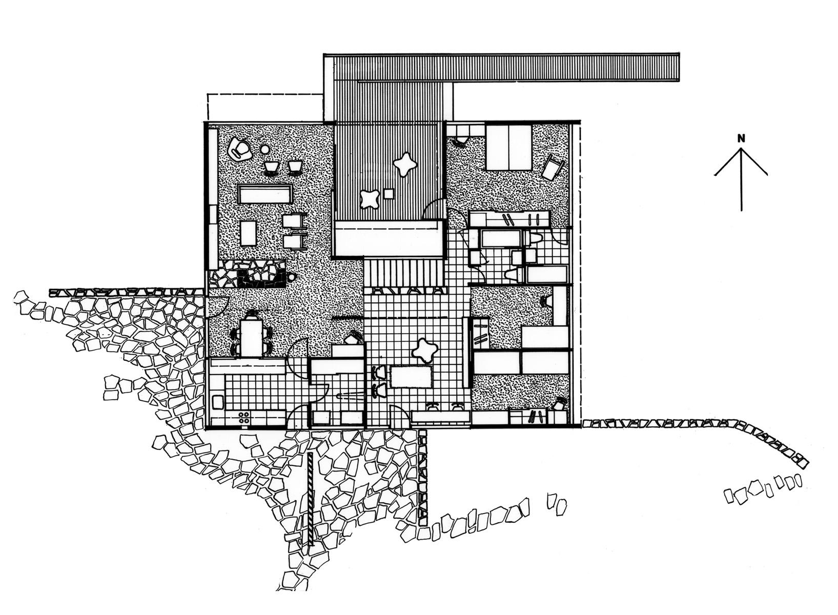Harry Seidler  amp  Associates  Rose Seidler HouseMain floor plan