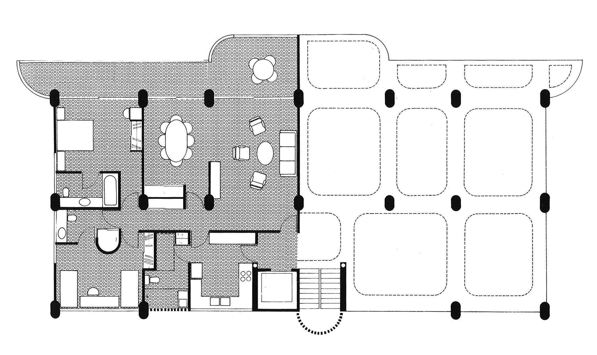 Harry seidler associates condominium apartments for Apartment structural plans