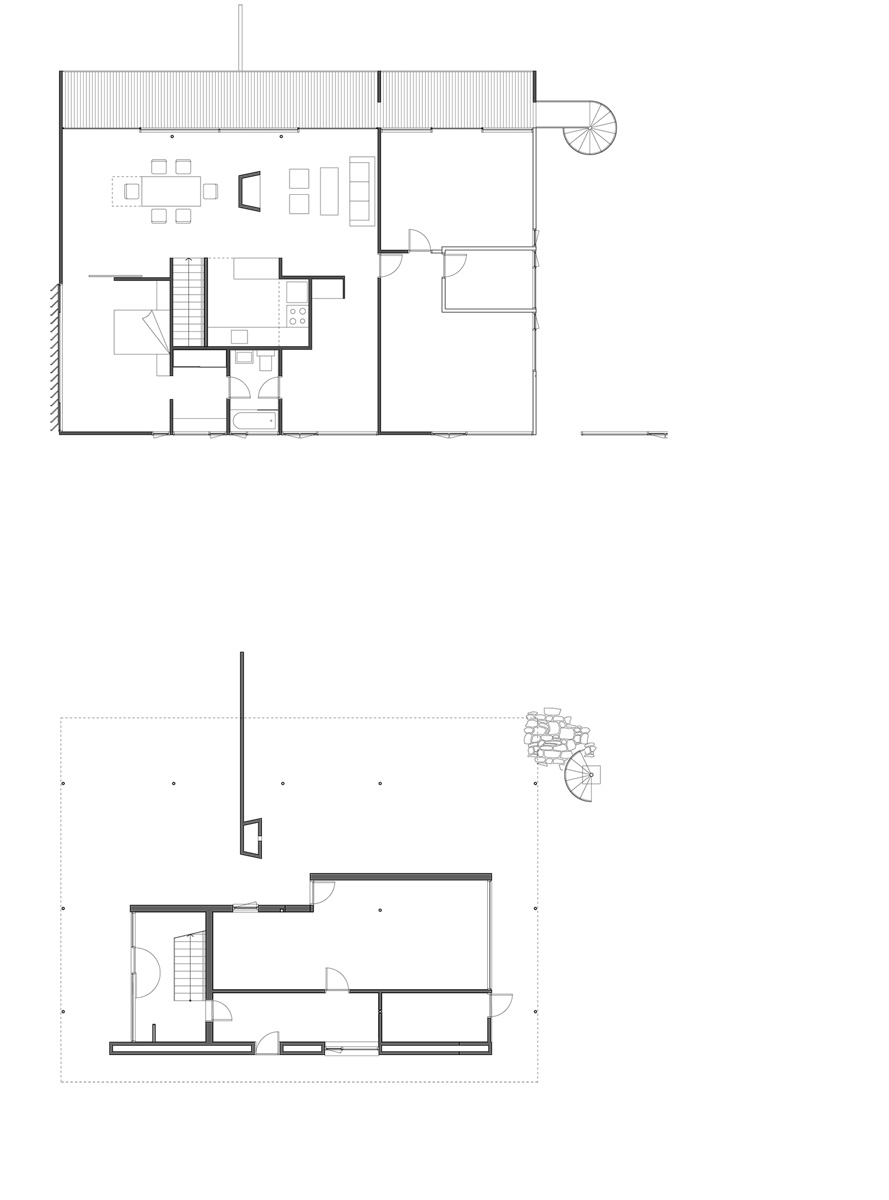 Harry Seidler  amp  Associates  Brian Seidler HouseExisting floor plans from addition