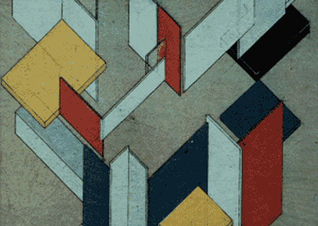 """Theo Van Doesburg """"Space-Time Construction"""" (partial)"""