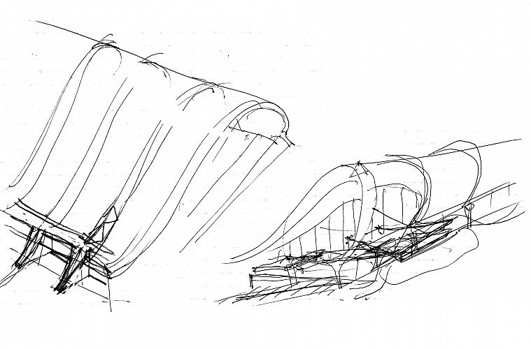 Harry Seidler's Sketch for the Roof Form