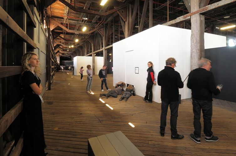 Exhibition Space with Visitors